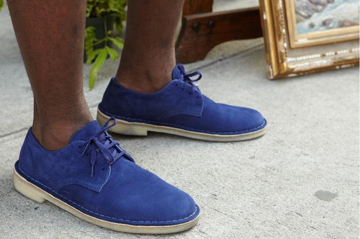No socks.: Clarks Desert, Mali Low, Style, Blue Desert, Supreme News, Blue Shoes, Clarks Originals, Desert Mali, Deserts