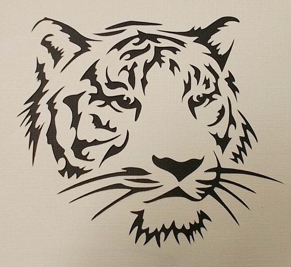 Pochoir tigre par kraftkutz sur Etsy