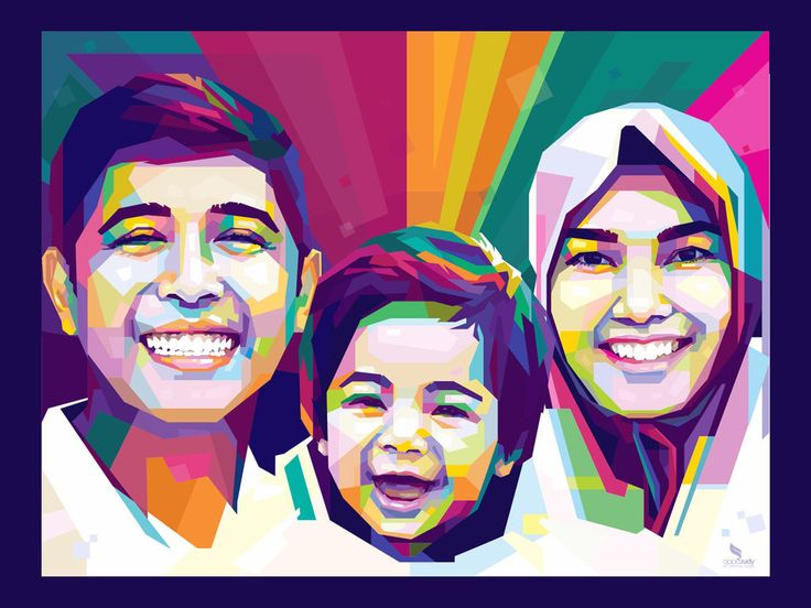 WPAP FAMILY by OPPARUDY,   .  #wpap #art #popart #colorful #wallpaper #family #illustration #vectorart #portrait #opparudy
