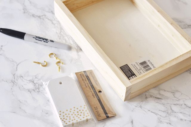 Make a calendar : ) Step 1: What you need: * Wooden Box * Gifts Tag * Sharpie Ma…