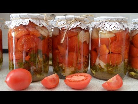 помидоры на зиму сладкие рецепты видео
