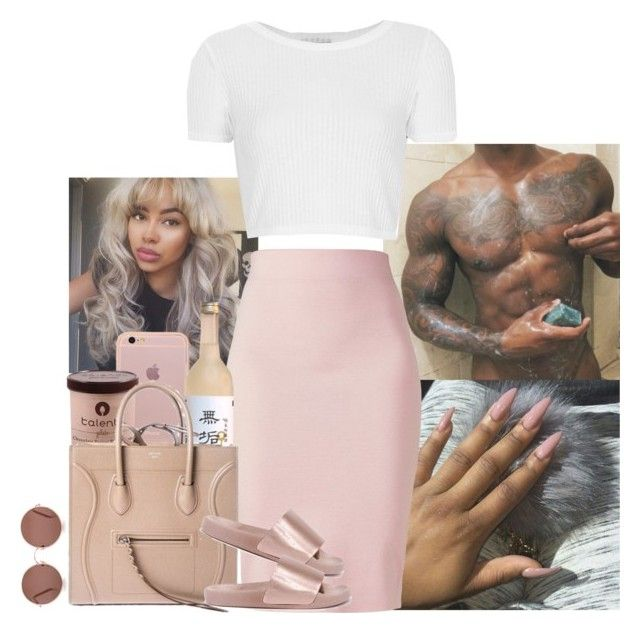 """"""""""" by jemilaa ❤ liked on Polyvore featuring Winser London, Topshop, CÉLINE, Bamboo and Sunday Somewhere"""