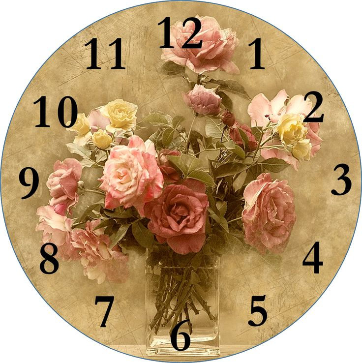 #decoupage #clock-face #printable  Click for more Smells Like Mommy