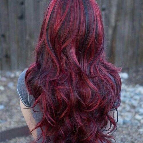 50 scharfe rote Haarfarbe Ideen