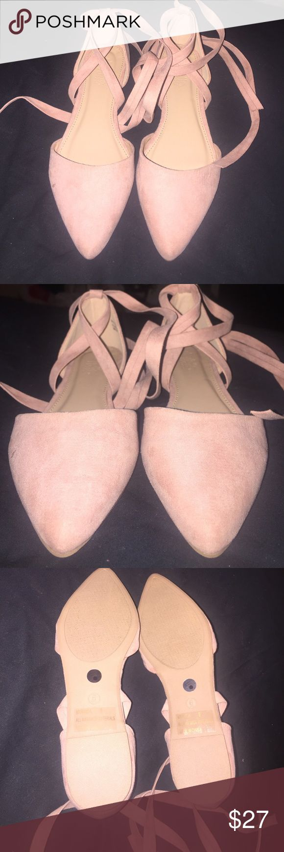 Flats Never ever used it in ver good condition the color is light pink Charlotte Russe Shoes Flats & Loafers