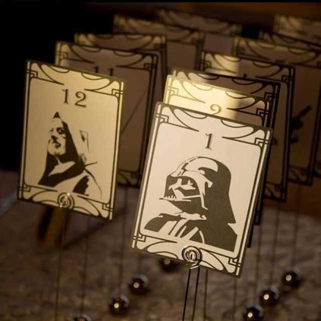 We loved these creative Star Wars Table Number Cards!  #TheSweetMindedEvents…
