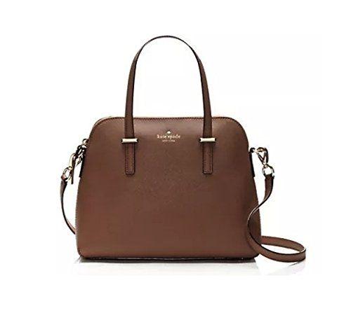 Kate Spade Cedar Street Maise Gingersnap Brown Leather Satchel