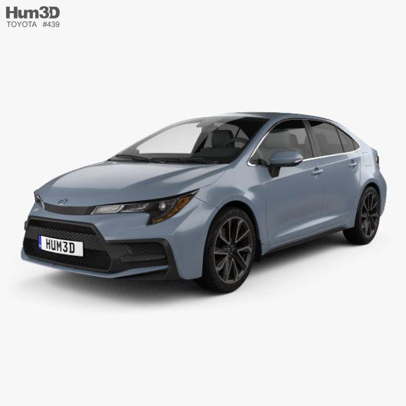 Toyota Corolla Xse Us Spec Sedan 2019 Ad Xse Corolla Toyota Sedan Em 2020 Carros Models Men
