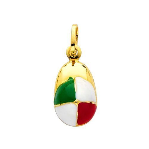 14K Yellow Gold Hat Enamel Charm Pendant The World Jewelry Center. $77.00. Promptly Packaged with Free Gift Box and Gift Bag. High Polished Finish. Simply Elegant