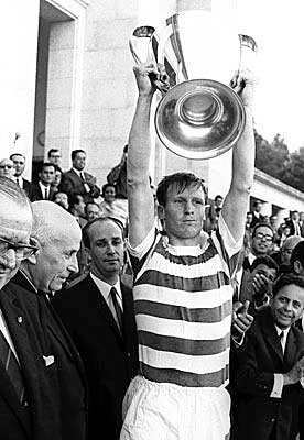 Classic photo- sixty seven.  In the heat of Lisbon. The fans came in there thousands........