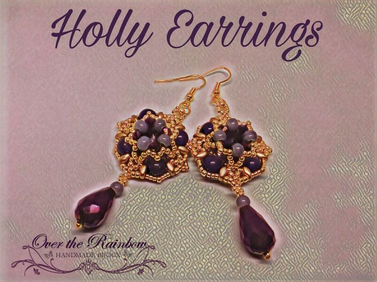 Holly Earrings https://www.etsy.com/it/listing/493092257/pdf-holly-earrings