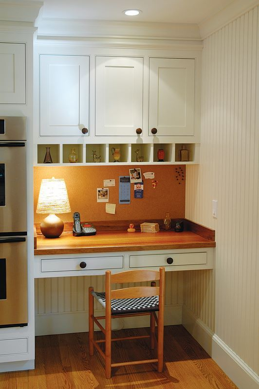 17 best ideas about kitchen office nook on pinterest for Desk in kitchen ideas