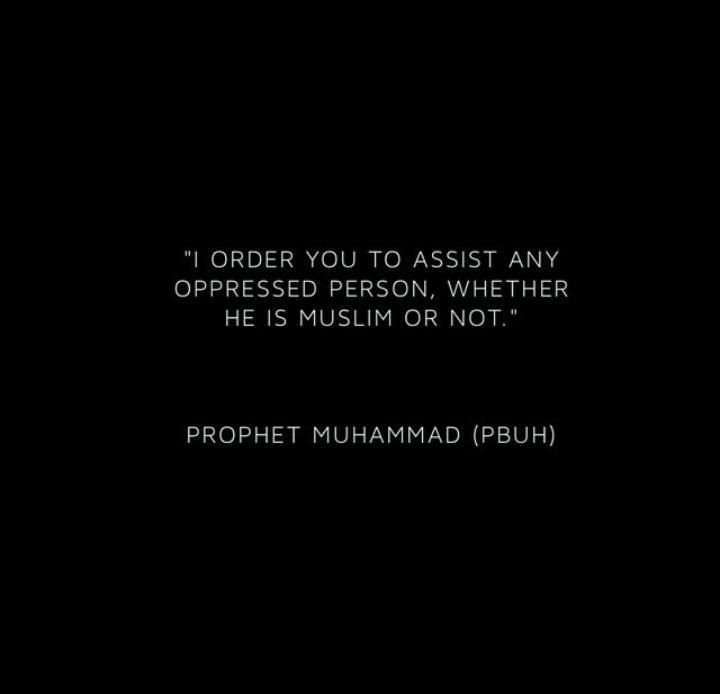 Islam teaches kindness to mankind & not just to Muslims. Our beautiful deen (religion) ♥