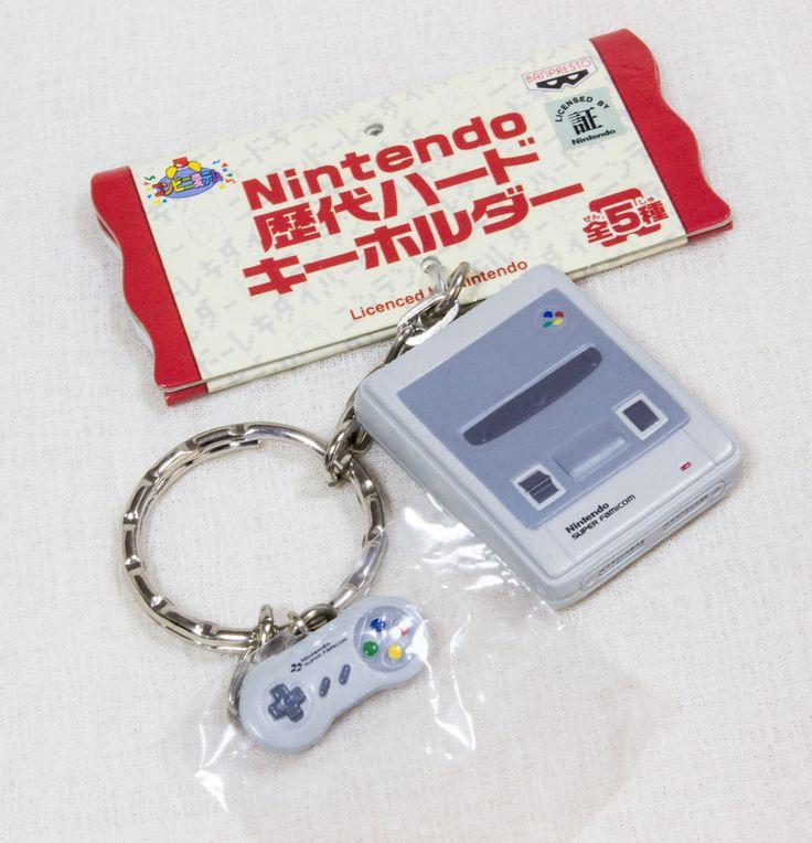 Nintendo Game Console History Miniature Figure Key Chain Super Famicom JAPAN