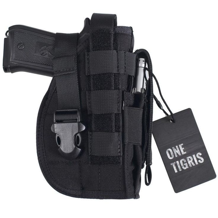 Tactical Gun Holster - Left & Right Hand Shooters - Double Strap Safety - Universal - 1911 45 92 96 Glock