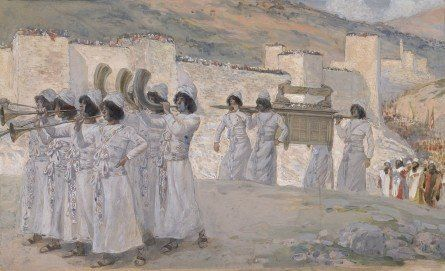 Phillip Medhurst presents 174/788 James Tissot Bible c 1899 The seven trumpets of Jericho Joshua 6:13 Jewish Museum New York. By a follower of (James) Jacques-Joseph Tissot, French, 1836-1902. Gouache...