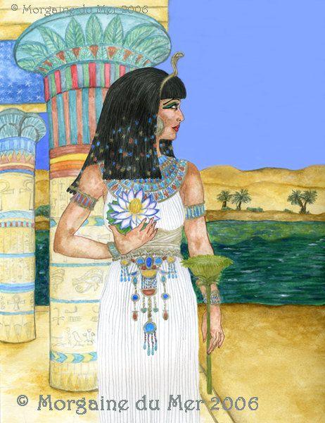 Isis Egyptian Goddess 8x10 Print Pagan Fantasy Art