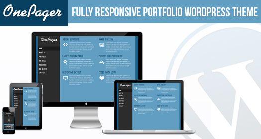 Free Responsive Portfolio WordPress Theme: OnePager