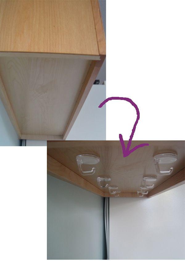under cabinet mug hooks bar cabinet. Black Bedroom Furniture Sets. Home Design Ideas