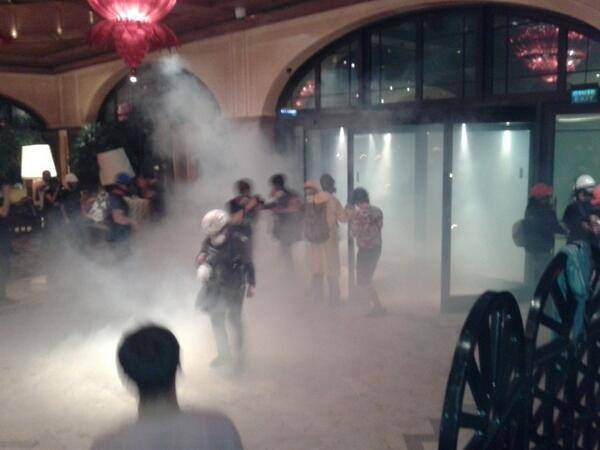 Teargas inside Divan Hotel, which was converted to infirmaries. Police did it. #occupygezi #direngeziparkı #direngezi #wearegezi #occupytaksim #occupyturkey #chapulling #turkey