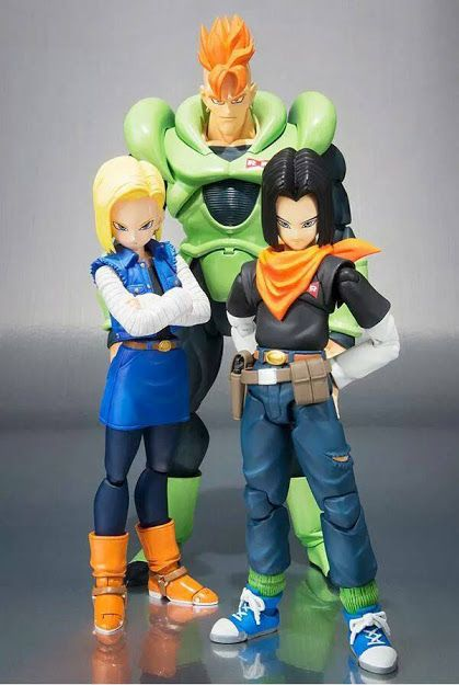 Tamashii Nations S.H.Figuarts Android 16, Android 17 & Android 18 Action Figures