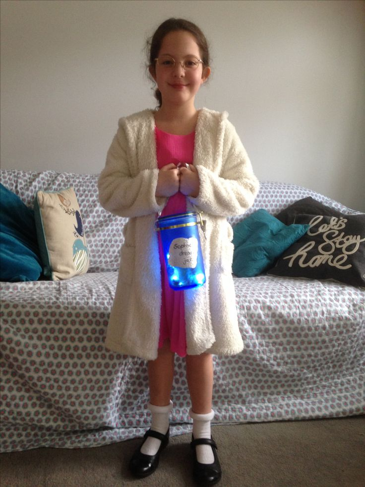 Sophie Fancy dress costume from The BFG for World Book day 2017
