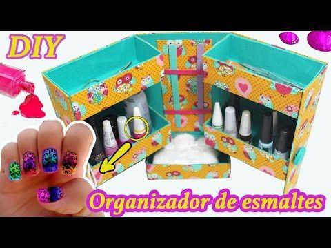 Organizador de Esmaltes - DIY - Segredos de Aline - YouTube