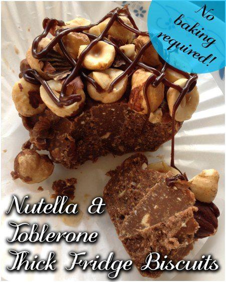 Nutella  Toblerone Thick Fridge Biscuits