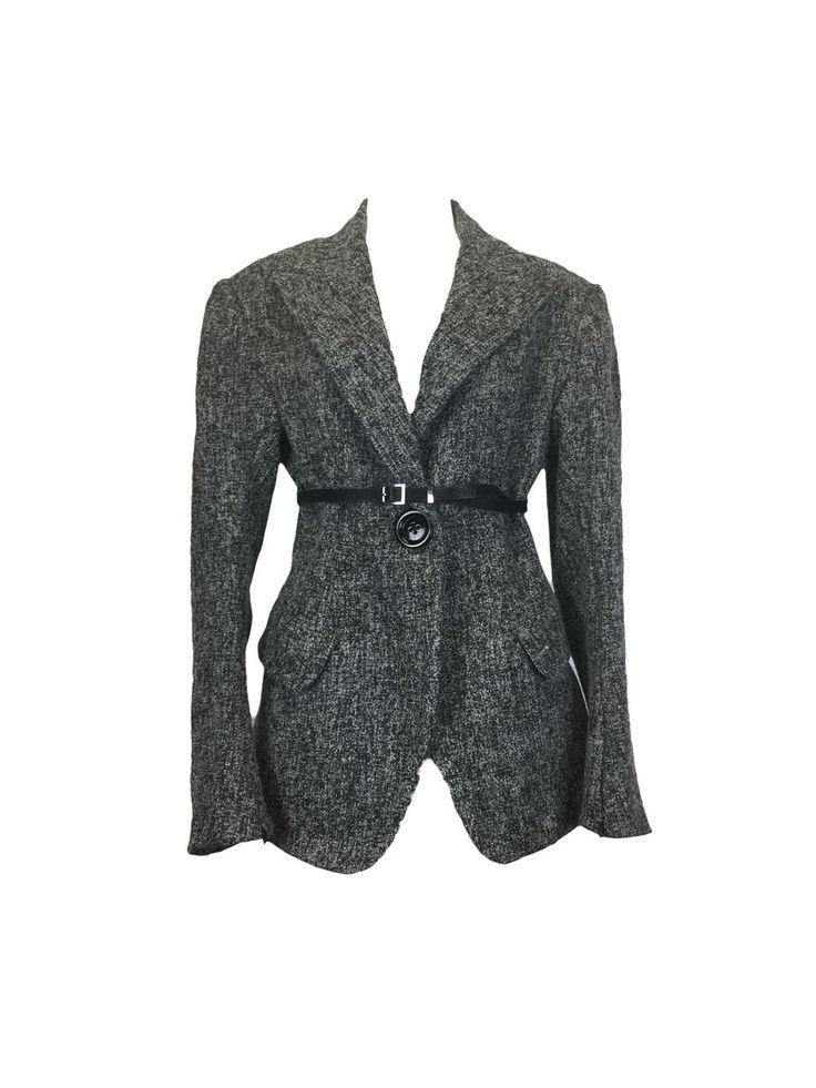 Salt & Pepper Donegal Tweed Oversized Coat Blazer by Atelieri