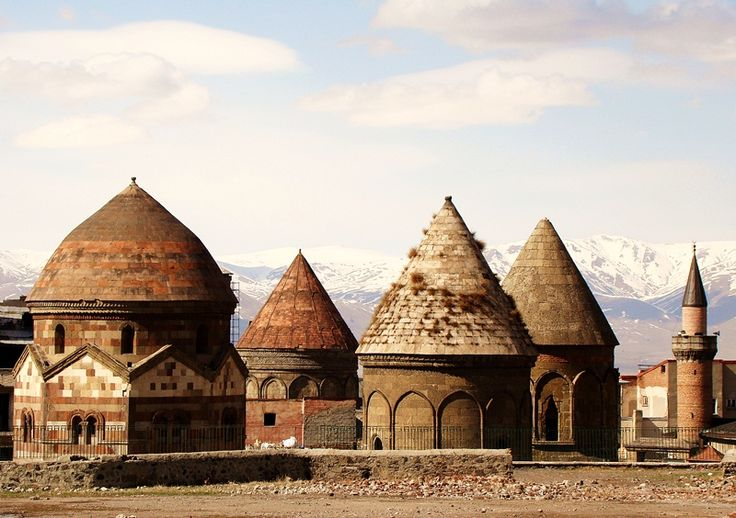 "Three Tombs, Erzurum. The crosses are taken away from the churches and made into ""mosques"" by turkey!"