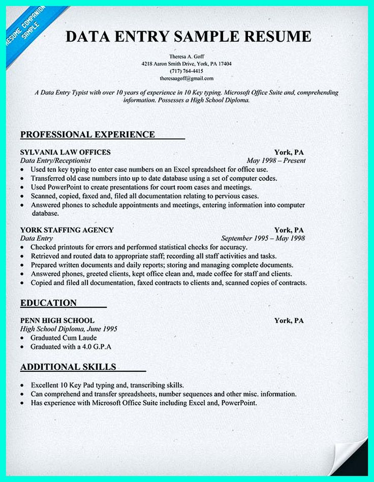 Your data entry resume is the essential marketing key to get the job you seek. The resume including for the data entry specialist resume must be well ... data entry specialist resume and data entry duties for resume Check more at http://www.resume88.com/perfect-data-entry-resume-samples-get-hired/