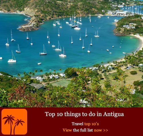 Top 10 things to do in Antigua. If you want to find out more about what makes Antigua's people tick and what you can do on the island other than catching a tan then check out the top 10 things to do in Antigua that will give you plenty of ideas as well as making you green with envy.