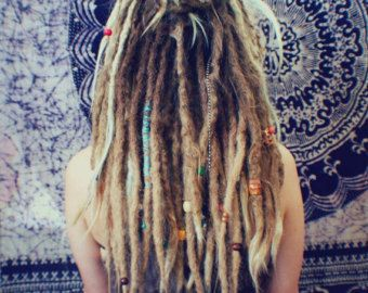 27 blonde mensenhaar Dreadlocks extensies