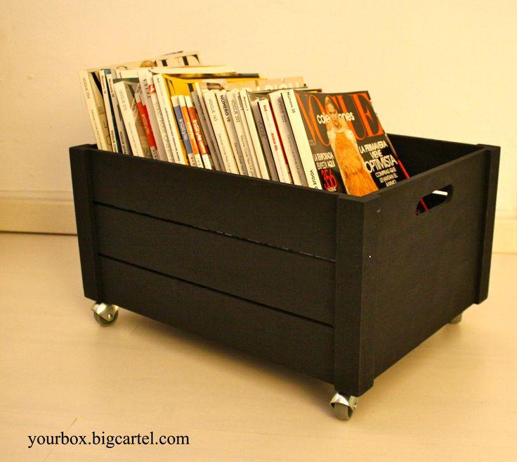 Caja de madera 3 listones en - Caja herramientas con ruedas ...
