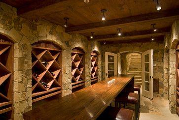 Hillside Farmhouse contemporary-wine-cellar
