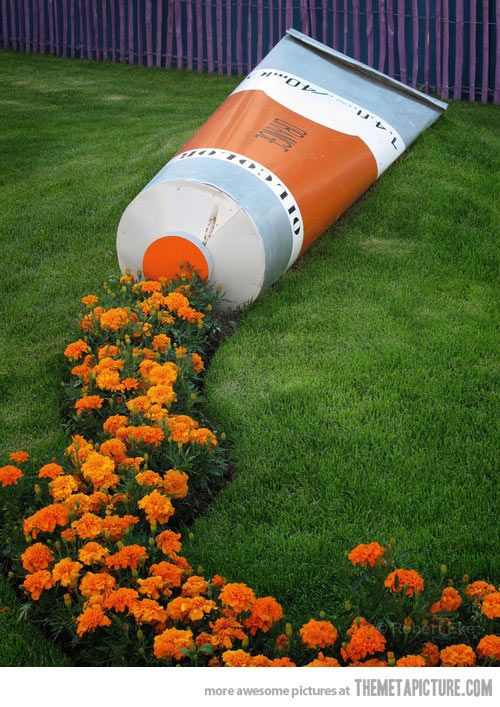 A tube of flowers…