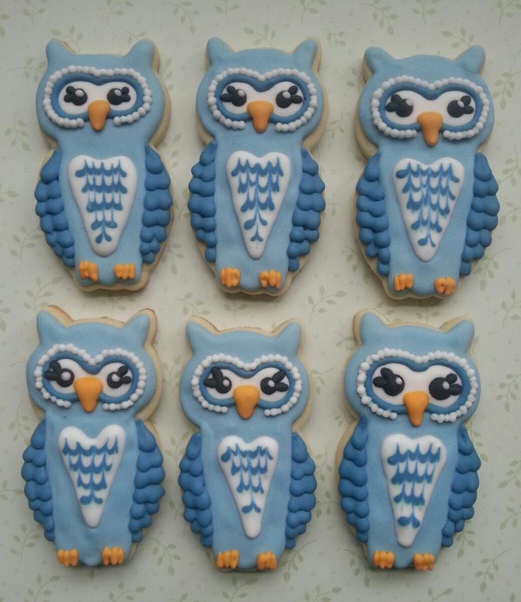 Owl sugar cookies with royal icing