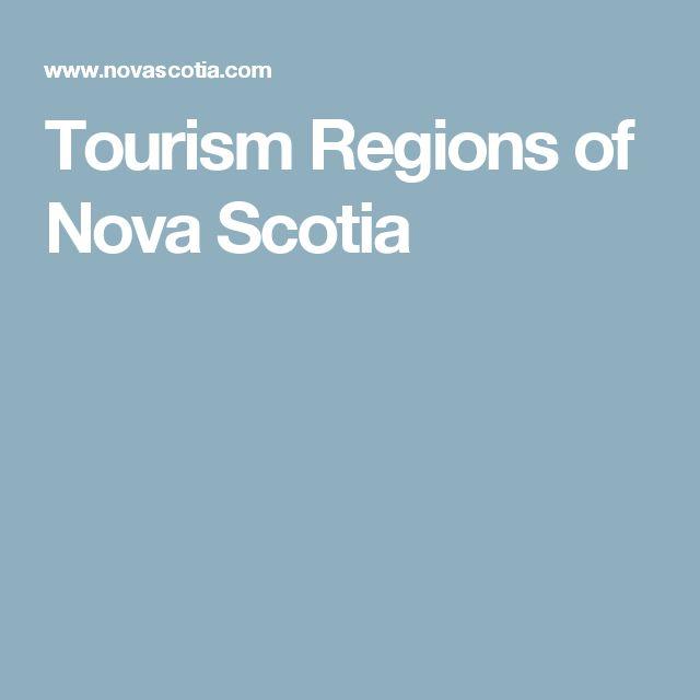 Tourism Regions of Nova Scotia
