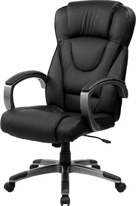 Superior Black Leather Office Chair
