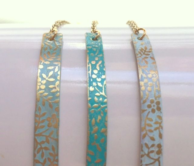 Coloring for adults!  Learn to make textured metal bracelets in a rainbow of hues.  rings-things.com