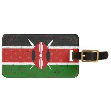 #Kenya Flag Luggage Tag - #travel #accessories