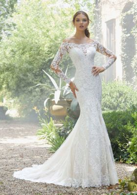 47777c922c *Mori Lee style 5709, Ivory, Size 22, $1298. Can be ordered in sizes 0-28.  Style 5709W can be ordered in sizes 16W-32W. Available at Debra's Bridal ...