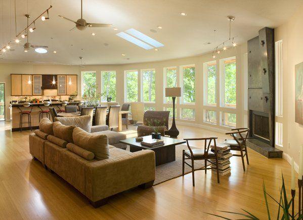 Kitchen Living Room Designs Combine