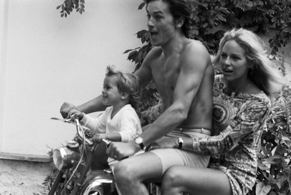 Alain, Nathalie and Anthony Delon, 1960's