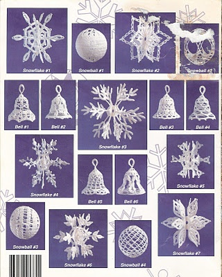 Crochet snow flakes and bells. Instructions included.
