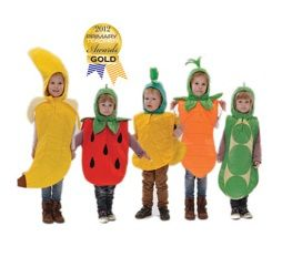 Children's 5 a day fruit and vegetable fancy dress costumes