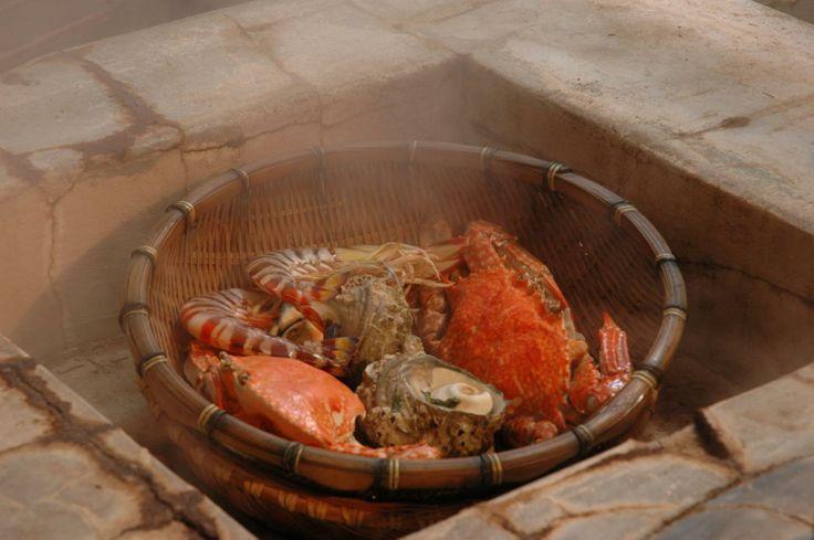 地獄蒸し料理  Steamed dishes