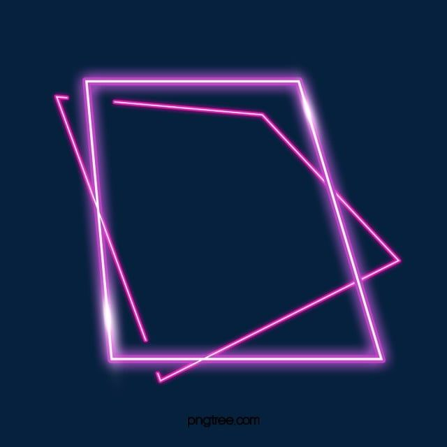 Fashionable Double Deck Square Irregular Neon Light Effect Frame Png And Psd Neon Black Background Images Photoshop Digital Background