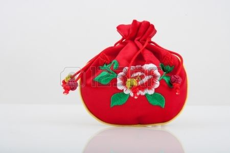 Traditional accessory Lucky bag in south korea Bokjumeoni Stock Photo