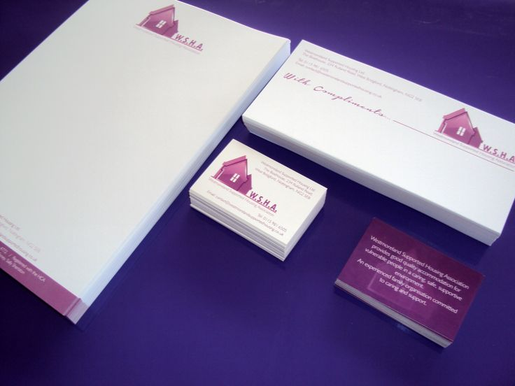 Business Stationery for W.S.H.A.. Designed and printed by Minuteman Press, Nottingham #BusinessStationeryNottingham #PrintNottingham #DesignNottingham